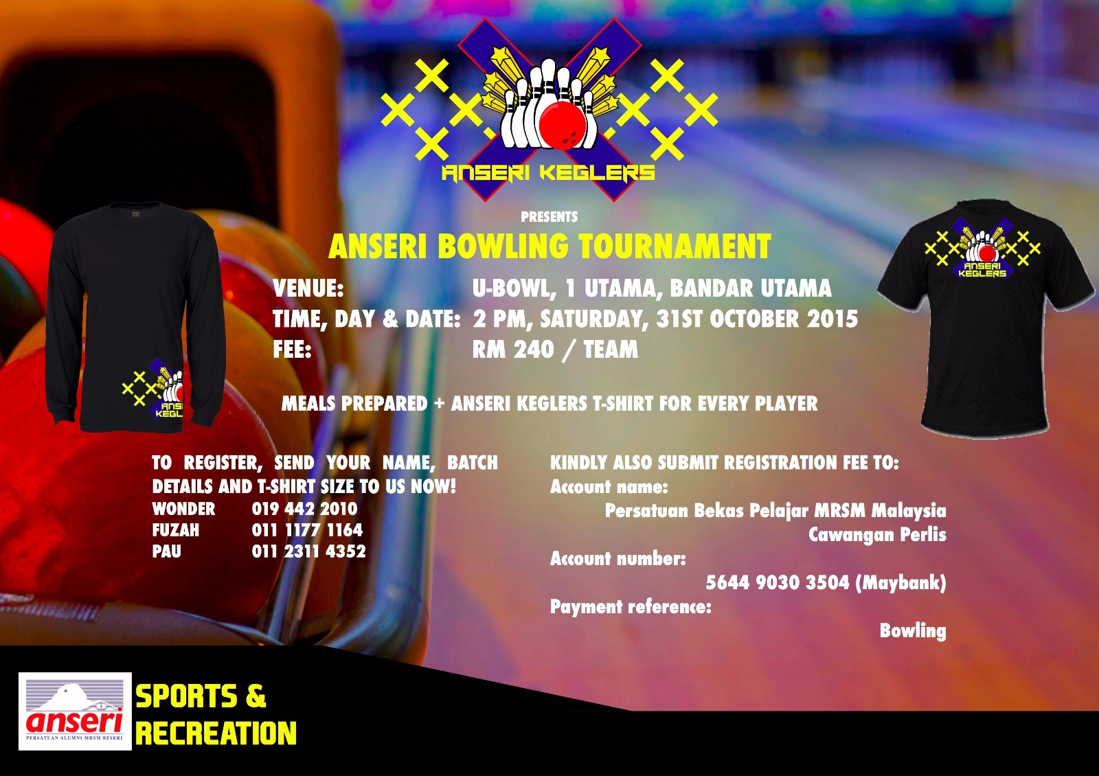ANSERI Interbatch Bowling Tournament 2015